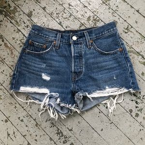 Distressed Levis Booty Shorts